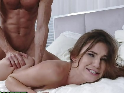 Tiny Teen Lets A Big Dick BF Pound Her