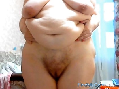 GILF Stefany Standing with fat fat belly
