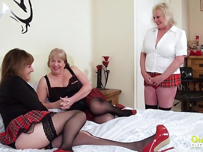 Trine sexual party back three busty british lesbian matures and sex toys