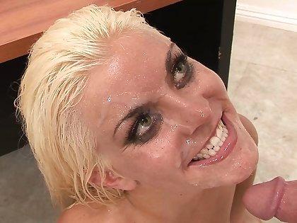 Aberrant fleshy massage with white-headed hair lady