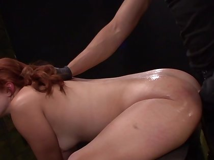 Tied up and tortured Rose Red gets her tight asshole stretched