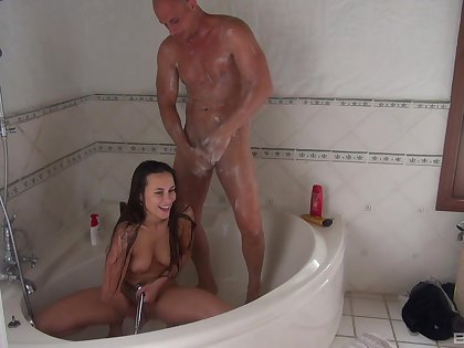 Cock stimulated pornstar Wendy Satellite enjoys having sexual connection with her husband