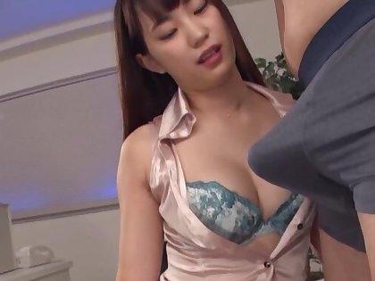 Quickie fucking in the office to foxy secretary Mitani Akari